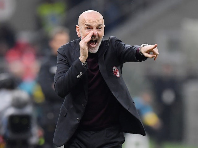AC Milan manager Stefano Pioli pictured in February 2020
