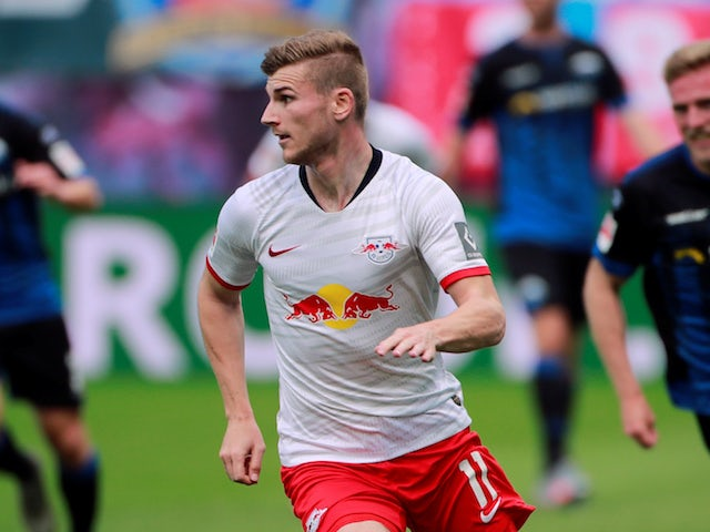 RB Leipzig striker Timo Werner pictured on June 6, 2020