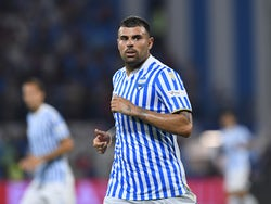 SPAL's Andrea Petagna pictured in action in August 2019