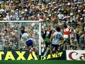 Bryan Robson scores for England against France on June 16, 1982