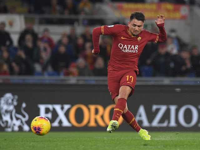 Roma forward Cengiz Under pictured in February 2020
