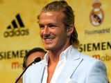 David Beckham is unveiled at Real Madrid in 2003