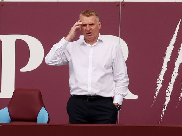 Aston Villa manager Dean Smith pictured on June 17, 2020
