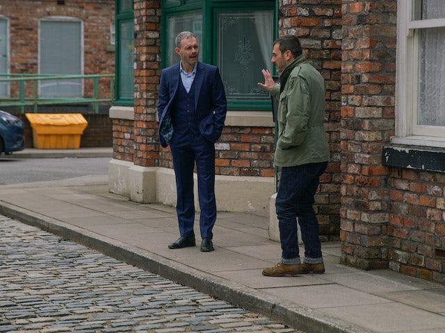 Peter and Nick have it out on Coronation Street on July 3, 2020