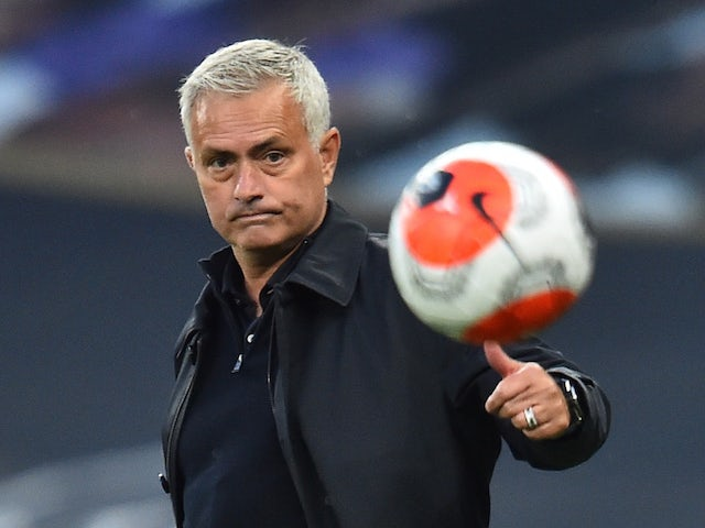 Tottenham Hotspur manager Jose Mourinho pictured on June 19, 2020