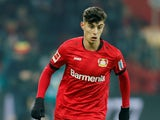 Bayer Leverkusen midfielder Kai Havertz pictured in February 2020