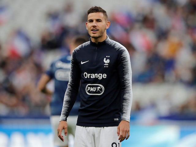 Bayern Munich's Lucas Hernandez in action for France in September 2019