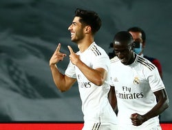 Marco Asensio celebrates scoring for Real Madrid on June 18, 2020