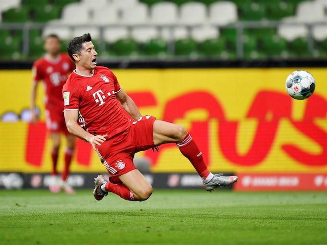 Robert Lewandowski in action for Bayern Munich on June 16, 2020