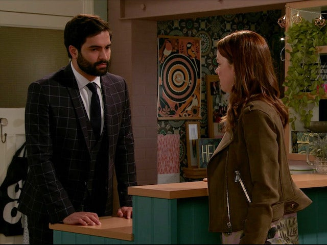 Toyah makes a decision with Imran on Coronation Street on June 29, 2020