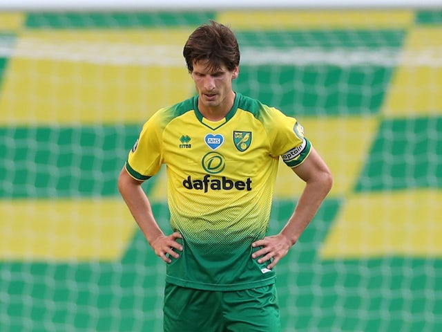 Norwich City defender Timm Klose pictured on June 19, 2020