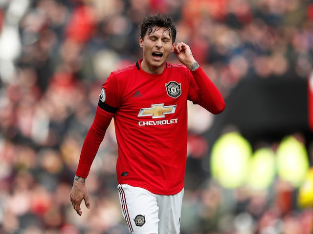 Manchester United defender Victor Lindelof pictured in February 2020