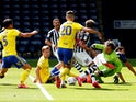 A general shot of the West Bromwich Albion vs. Birmingham game on June 20, 2020