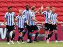 Sheffield Wednesday players celebrate scoring against Bristol City on June 28, 2020