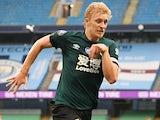 Burnley skipper Ben Mee in action on June 22, 2020