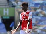 Arsenal winger Bukayo Saka pictured on June 20, 2020