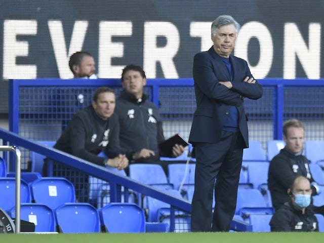 Everton manager Carlo Ancelotti pictured on June 21, 2020