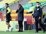 Norwich City manager Daniel Farke reacts on June 19, 2020