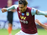 Jack Grealish in action for Aston Villa on June 21, 2020