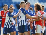 Matteo Guendouzi squares up to Brighton players on June 20, 2020