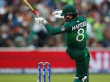 Mohammad Hafeez in action for Pakistan in June 2019