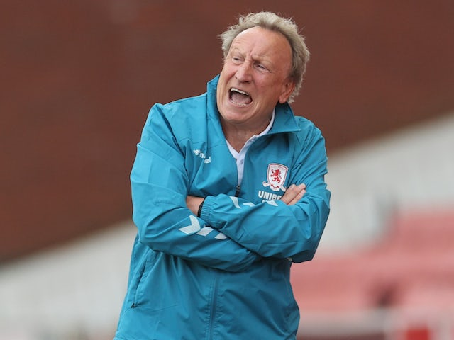 Middlesbrough manager Neil Warnock pictured on June 27, 2020