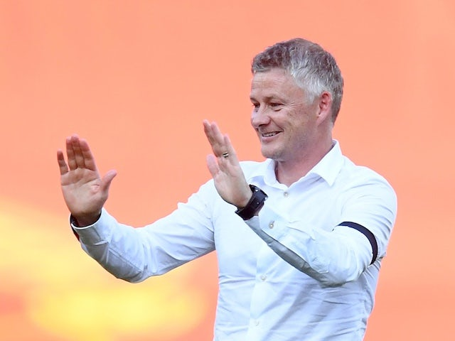 Manchester United manager Ole Gunnar Solskjaer pictured on June 24, 2020