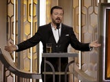 Ricky Gervais hosting the Golden Globes on January 10, 2020