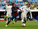 Levante midfielder Enis Bardhi in action against Real Madrid in October 2018