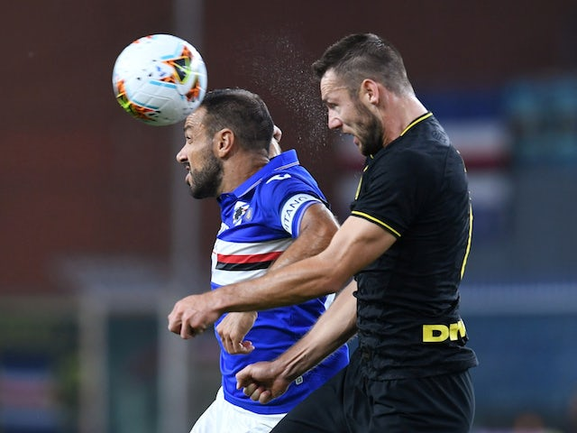 Sampdoria's Fabio Quagliarella in action in September 2019