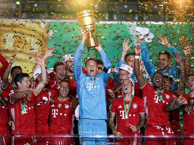 Result: European roundup: Robert Lewandowski fires Bayern Munich to cup glory