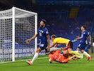 Chelsea's Olivier Giroud celebrates scoring against Watford on July 4, 2020
