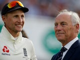Joe Root and Colin Graves pictured in September 2019