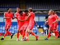 Huddersfield Town's Fraizer Campbell celebrates scoring against Birmingham on July 1, 2020