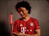 Leroy Sane pictured in a Bayern Munich top after joining the club from Manchester City