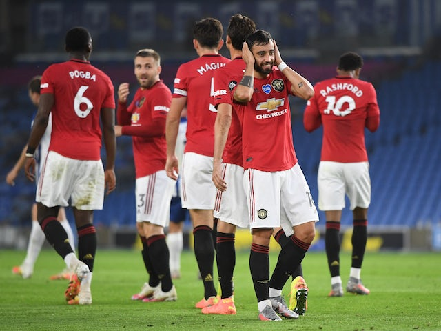 Result: Bruno Fernandes scores twice as Manchester United cruise past Brighton