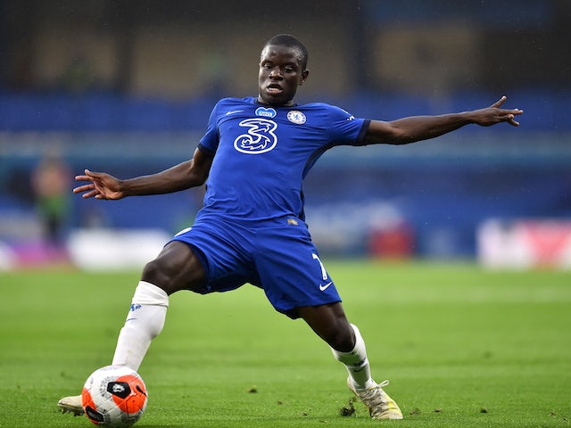 Chelsea midfielder N'Golo Kante pictured on July 4, 2020