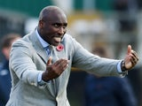 Sol Campbell pictured as Southend boss in November 2019