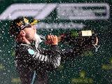 Valtteri Bottas celebrates winning the Austrian Grand Prix on July 5, 2020