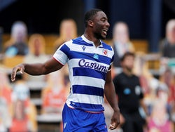 Reading's Yakou Meite celebrates scoring the third of his four goals against Luton on July 4, 2020