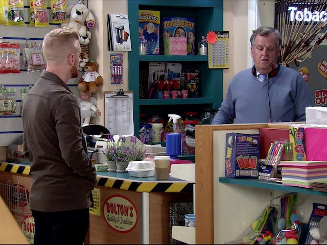 Gary chats to Brian on Coronation Street on July 24, 2020