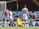 Aston Villa's Trezeguet scores against Crystal Palace in the Premier League on July 12, 2020