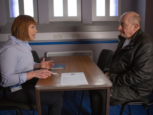 Geoff gets a grilling on Coronation Street on July 13, 2020