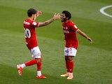 Bristol City's Jamie Paterson celebrates scoring against Hull City in the Championship on July 8, 2020