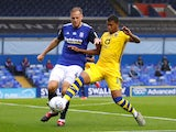 Birmingham City's Marc Roberts in action with Swansea City's Rhian Brewster in the Championship on July 8, 2020