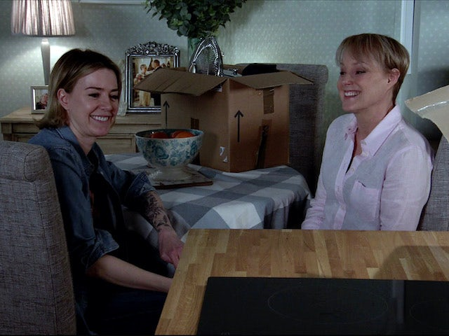 Abi and Sally reminisce on Coronation Street on July 20, 2020