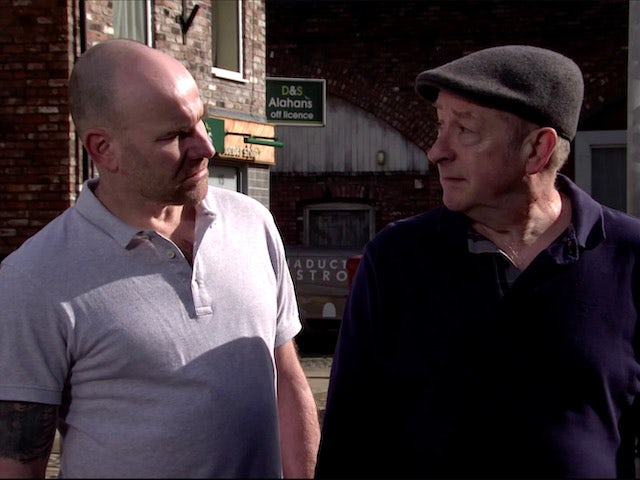 Tim and Geoff on Coronation Street on July 15, 2020