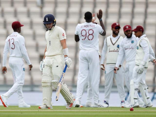 England hold slender lead over West Indies