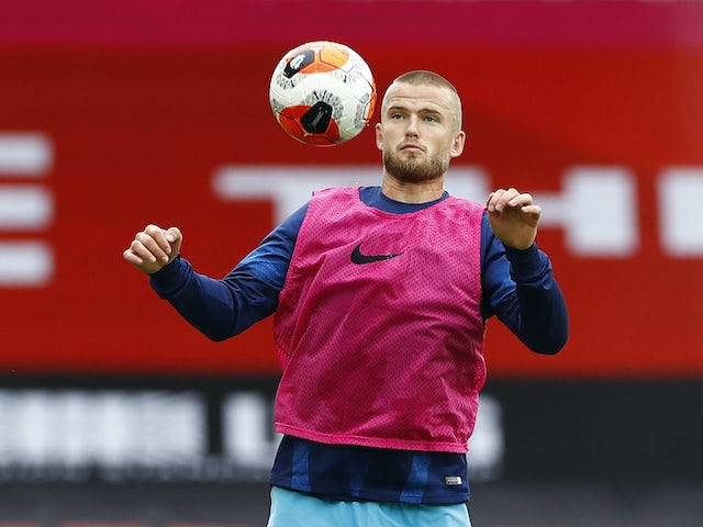 Eric Dier warms up for Spurs on July 2, 2020