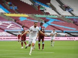 Burnley's Jay Rodriguez celebrates scoring against West Ham United in the Premier League on July 8, 2020